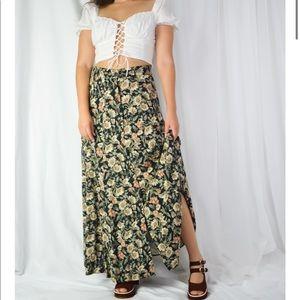 VINTAGE/ fall floral skirt